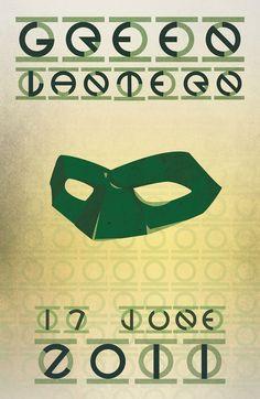 Green Lantern Creativos y minimalistas posters de películas