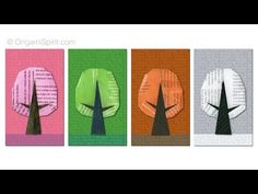 Origami tree -Origami Seasons : : Árbol de papel - YouTube