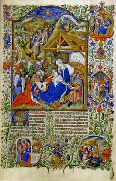 Paris, Bibliothèque nationale, lat. 17294: The Salisbury Breviary, f. 106: Adoration of the Magi.