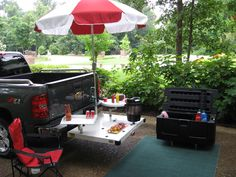TAiLDECKER™ - The Ultimate Tailgating System! Perfect for NASCAR, Baseball, Football or anything outdoors! Call me at (850) 376-9140 for more information today!