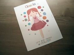 Lámina para niñas / Art print for girls Live and dream in colour - La tienda de dibus