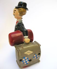 vintage Charlie Chaplin Wind-Up Toy