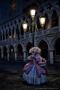 Dawn at Piazza San Marco, 2013 Carnival of Venice.