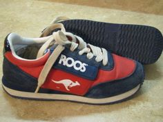 06fca28b1a5e39 Vintage KANGAROOS ROOS Tennis Shoes W POCKET Red 6 1 2