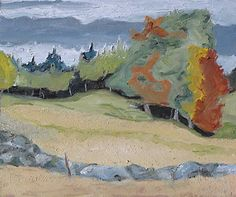 Behind The Stone Fence by Francois Fournier Oil ~ 10 x 12