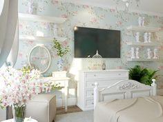 Спальня. Интерьер квартиры в стиле прованс в п. Сертолово