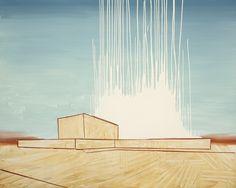 Wilhelm Sasnals Gemälde Powerplant in Iran