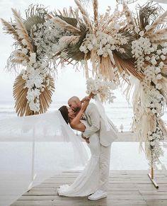 Chloe Chapman in the Pearly Blusher Veil Boho Beach Wedding, Bali Wedding, Floral Wedding, Wedding Colors, Dream Wedding, Bohemian Wedding Theme, Destination Wedding, Bohemian Wedding Decorations, Bohemian Weddings