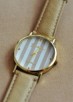 Kup mój przedmiot na #vintedpl http://www.vinted.pl/akcesoria/bizuteria/10233243-piekny-zegarek-geneva-w-paseczki