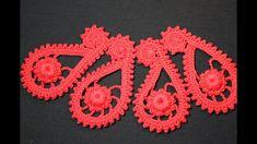 Turkish cucumber or paisley left. Crochet Paisley, Crochet Doily Rug, Crochet Stars, Freeform Crochet, Irish Crochet, Crochet Flowers, Crochet Stitches, Paisley Coloring Pages, Mandala Coloring