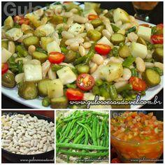 Dica para o #almoço é a Salada de Feijão Branco e Vagem, é nutritiva, refrescante e super saborosa!  #Receita aqui => http://www.gulosoesaudavel.com.br/2012/08/13/salada-feijao-branco-vagem/
