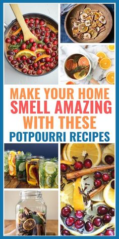 12 Easy & Cheap Homemade Potpourri Recipes to make your home smell absolutely AMAZING. Homemade Potpourri, Simmering Potpourri, Potpourri Recipes, Homemade Gifts, Homemade Cards, House Smell Good, House Smells, Homemade Air Freshener, Birthday Ideas For Her