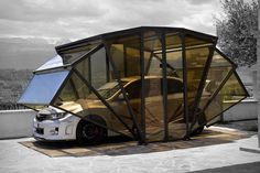 Like an exoskeleton shell for your favorite automobile, the Gazebox can keep it protected from the elements without the need for a bulky dedicated structure. This folding cover is made in Italy from painted iron framework and anti-UV polycarbonate panels,...