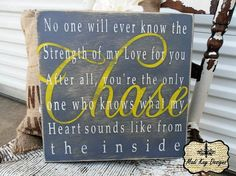 AWE!!!  Unique Baby Shower gift Sign 18x18 Personalized by MadiKayDesigns, $69.99