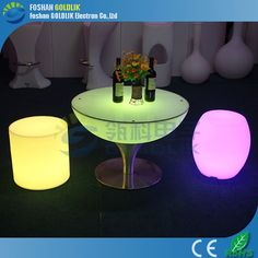 luminous party led chairs and tables www.goldlik.com