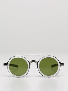 dd03 sunglasses silver/green - DD03 Sunglasses in Silver/Green by Mykita / Damir Doma