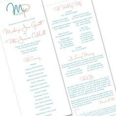 Tangled Program - Unique Wedding Program by The Green Kangaroo