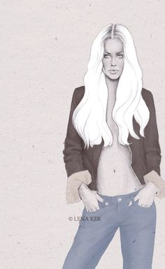 artwork by Lena Ker: the cold girl