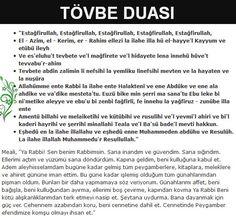 Tövbe Duası ve Türkçe Anlamı Arapça Okunuşu