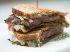 Using Rubschlager Breads' Jewish Rye bread, you can make a hearty and filling Italian steak sandwich.
