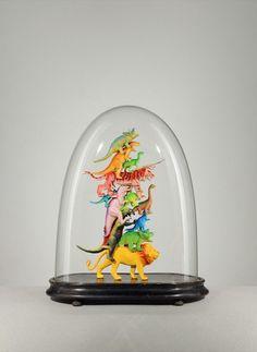 Bell jar sculpture by Lucas Mongiello...fun.