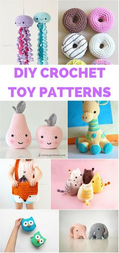 12 Darling Crochet Toys for Kids with Free Patterns and Tutorials. Such adorable…