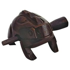 "Tycoon Percussion Small Frog by Tycoon Percussion. $19.23. Tycoon Percussion TF-35 Small Wooden Frog is hand crafted in Southeast Asia. Frogs are played by scraping the beater up and down the back of the frog, creating distinct ""croaking"" noises. Frogs are available 4 sizes; extra small, small, medium and large. Beater is included.. Save 29% Off!"