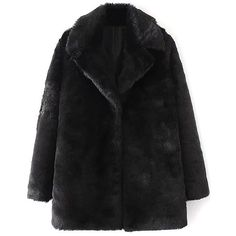 Fitting Faux Fur Coat (205 ILS) ❤ liked on Polyvore featuring outerwear, coats, faux fur coat, fake fur coats and imitation fur coats
