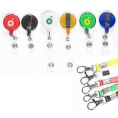 """2-in-1 Round retractable badge holder with lanyard. Hook the lanyard onto the metal clip of the retractable badge reel to convert it and to extend the length.  Total length: 24"""" plus 19"""". Great for events, trade shows, corporate name tags, badges and ID cards. Value combo! Plastic snap size 1/2"""" x 1/8""""."""