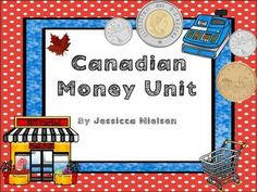 Canadian Money Unit Counting Money Games, Counting Money Worksheets, Grocery Store Flyers, Learning Money, Canadian Coins, Learning Centers, Task Cards, Special Education, Goal