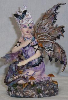 Dragon And Fairy Figurines   Purple Fairy with Dragon Statue Figurine   eBay