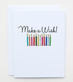 Make A Wish! Birthday Card