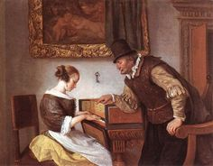 Harpsichord Lesson - Jan Steen  -  Completion Date: 1660