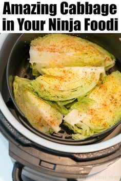 8 Ninja Foodi Cabbage Recipes Your Family Will Love!You can find Ninja recipes and more on our Ninja Foodi Cabbage Recipes Your Family Will Love! Air Fryer Recipes Chips, Air Fryer Recipes Low Carb, Air Fryer Recipes Breakfast, Breakfast Ideas, Grilling Recipes, Cooking Recipes, Healthy Recipes, Cooking Tips, Food Tips