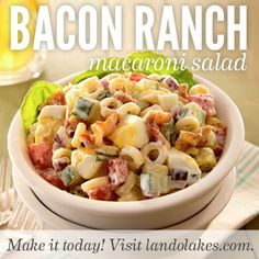 If you like the flavors of bacon and tomatoes - you will enjoy this macaroni salad.