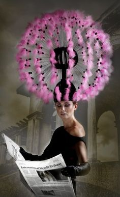 Tolentino Haute Hats, in case you want to be noticed. The new dandelion hat...I wonder what happens on a windy day?