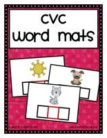 cvc word mats  (more great activites on their site)  p.s.- LOVE their youtube site, songs!