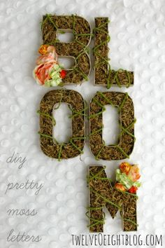 Blooming Moss Monogram Letters