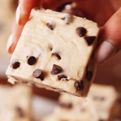 Dough Fudge No-bake cookie dough fudge is the ultimate holiday treat. Get the recipe at .No-bake cookie dough fudge is the ultimate holiday treat. Get the recipe at . Just Desserts, Delicious Desserts, Yummy Food, Cookie Desserts, Delicious Chocolate, No Bake Desserts, Fudge Recipes, Dessert Recipes, Recipes Dinner