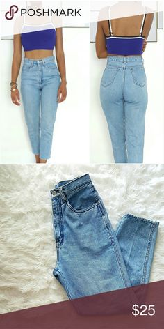 Vintage Bill Blass High Wasted Demin Vintage Bill Blass high-waisted denim. 25 inch inseam. Bill Blass Jeans
