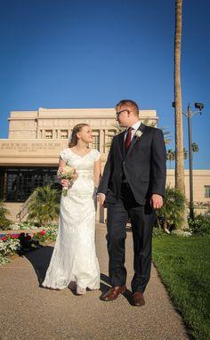 Mesa AZ Temple Wedding Photography
