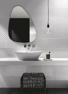 Indoor white-paste wall tiles PRESTIGE by Ragno - @Marazzi #bathroom #white