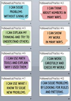 Good idea to modify for Spanish Standards ---Bulletin Board idea: Everybody is a Genius: Kid Friendly Mathematical Practices Posters- Part 2 Classroom Posters, Math Classroom, Classroom Ideas, Teacher Posters, Classroom Design, Math Teacher, Teaching Math, Teacher Stuff, Maths