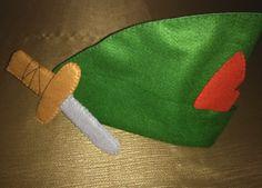 Adaga flexível e chapéu do Peter Pan
