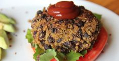 This vegetarian burger is packed with protein and flavor thanks to tasty spices and cheesy nutritional yeast. Toss all the ingredients in a bowl, shape into patties, and cook!