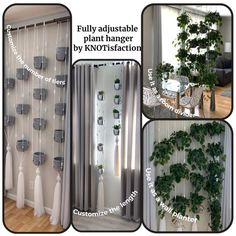 Hanging Wall Planters, Hanging Shelves, Hanging Plants, Estilo Interior, Interior Styling, Interior Design, Fade Out, House Plants Decor, Plant Decor