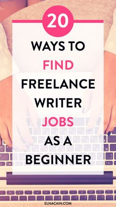Freelance writing jobs for beginners. Find 20 ways to find freelance writing jobs if you are brand new to online writing. #freelance #freelancewriting #freelancewritingjobs #workfromhome Online Writing Jobs, Freelance Writing Jobs, Academic Writing, Writing Skills, Writing Tips, Writing Websites, Make Money Blogging, How To Make Money, Earning Money