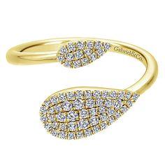 14k Yellow Gold Diamond Fashion Ladies' Ring   Gabriel