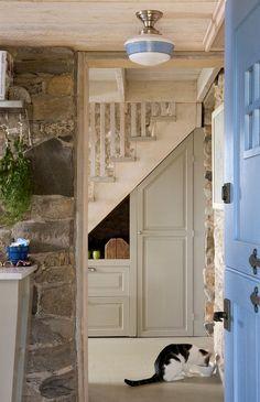 Storage Under Stairs - Rustic Entryway