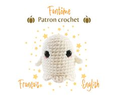 I propose to crochet with me an adorable little ghost. It is an easy and quick project ideal for decorating your Halloween table or to make little gifts. Don't be afraid, no spirit will come to haunt you during the realization of this pattern … Chain Stitch, Slip Stitch, Crochet Hook Sizes, Crochet Hooks, Half Double Crochet, Single Crochet, Entre Crochet, Magic Ring, Halloween Table